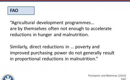 """FAO """"Agricultural development"""