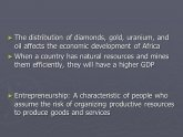 Economic development of Africa