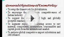 Indian Exim Policy - India Export Import Policy - Cybex Exim